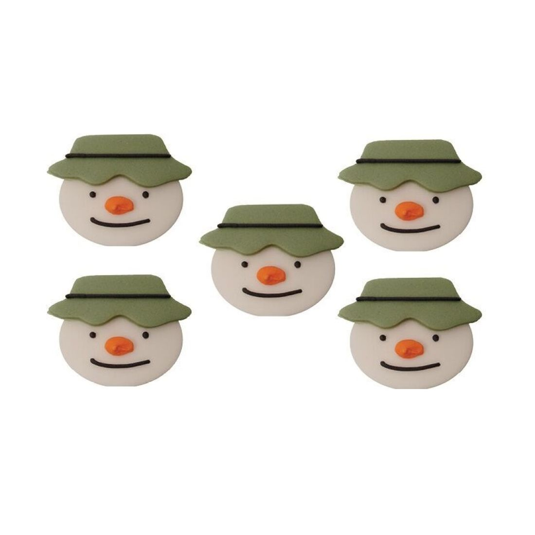 Raymond Briggs The Snowman Christmas Tree Decorations: Raymond Briggs Snowman Face Edible Decorations Set Of 5