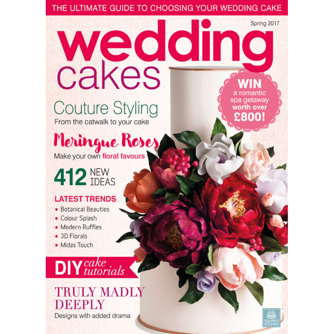 wedding cake magazines wedding cakes magazine 2017 squires kitchen shop 23112