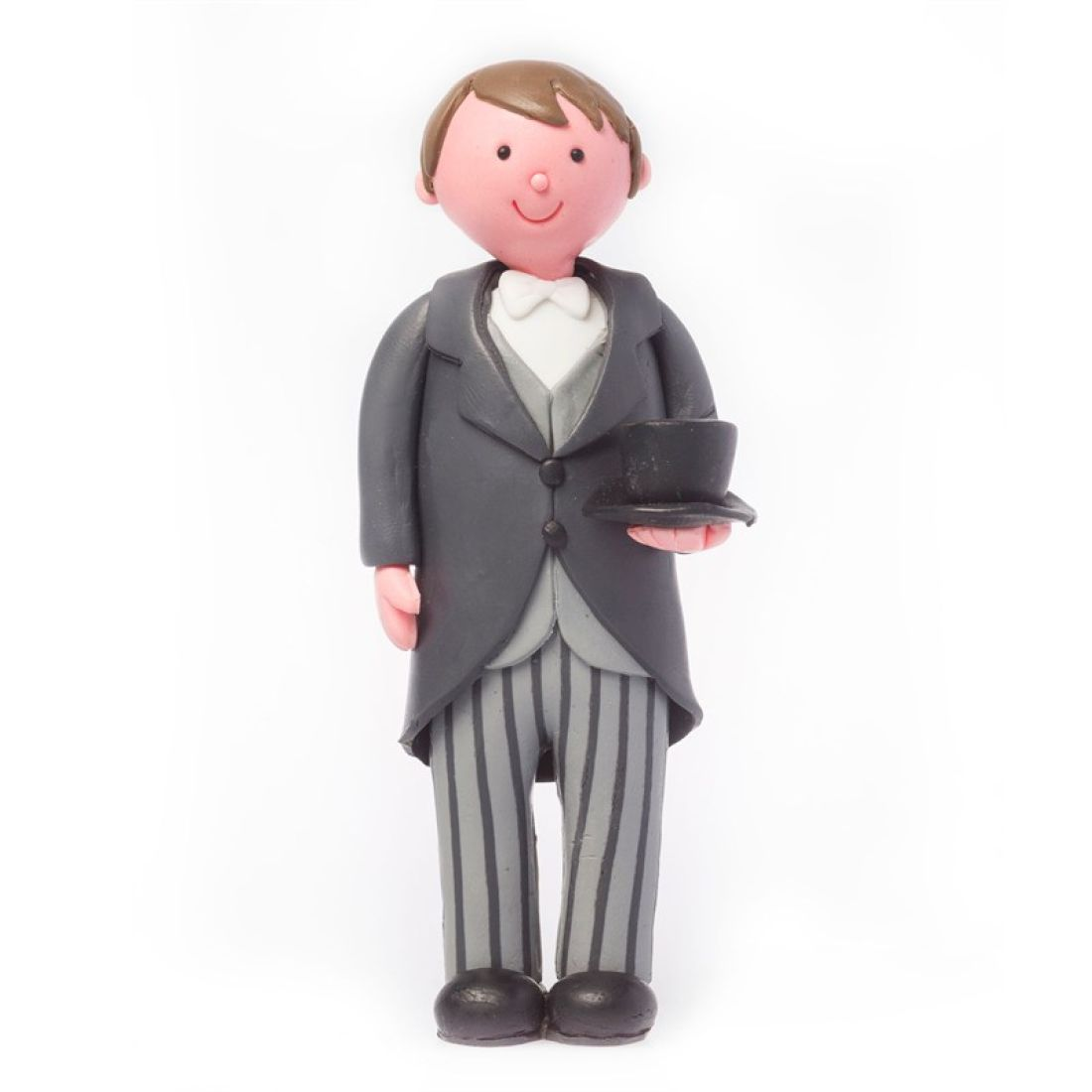 Claydough Brunette Haired Groom with Top Hat and Tails | Squires ...