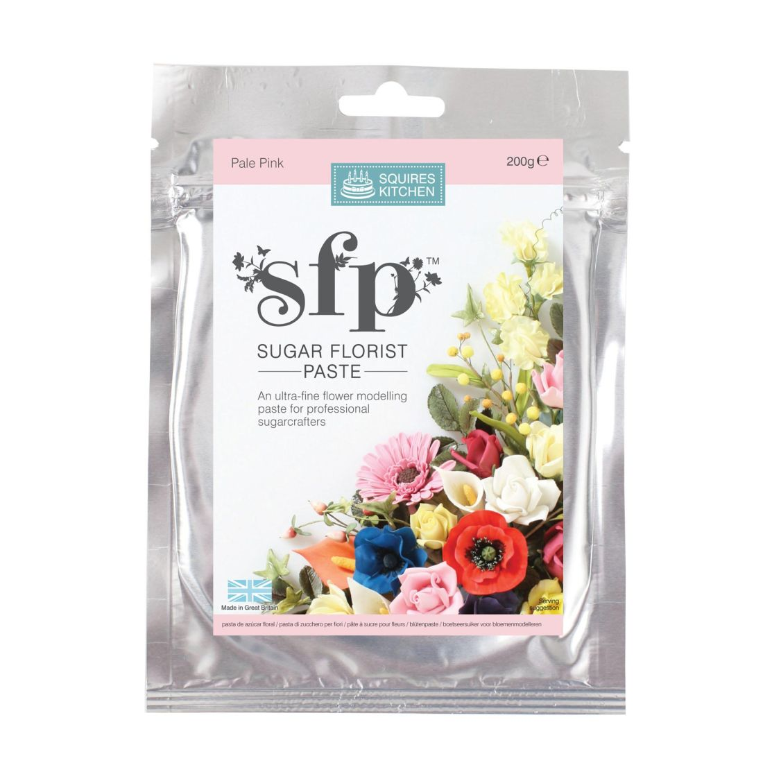 SK SFP Sugar Florist Paste Pale Pink 200g | Squires Kitchen Shop