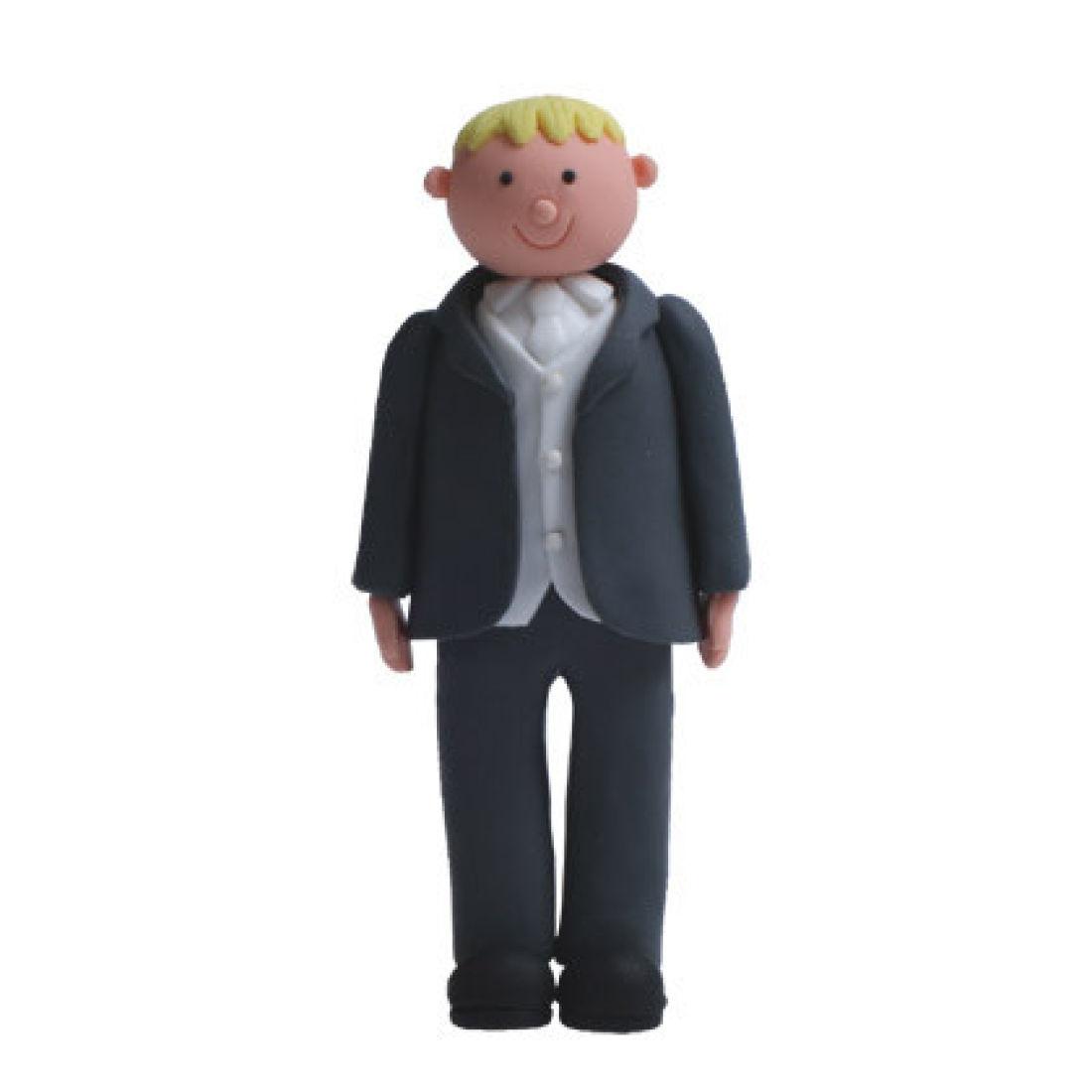 Claydough Groom Cake Topper - Blond Hair | Squires Kitchen Shop