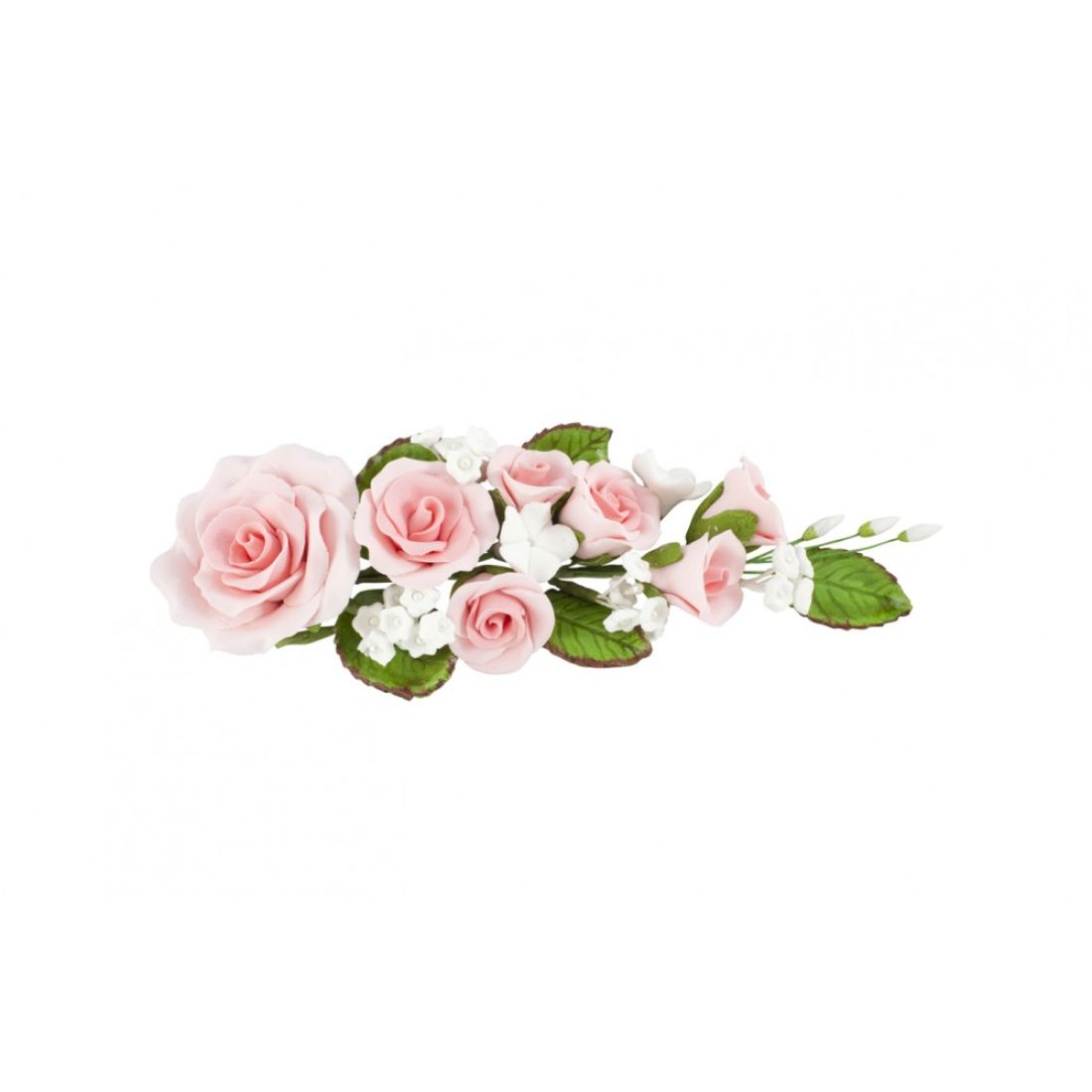 Pink Rose And Blossoms Sugar Flower Spray Squires Kitchen Shop