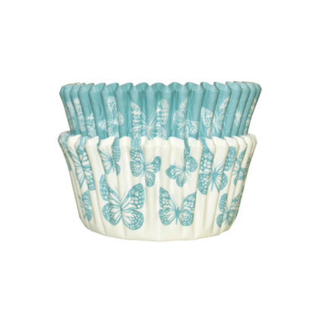 SK Cupcake Cases Butterfly Sea Green Pack of 36   Squires Kitchen Shop