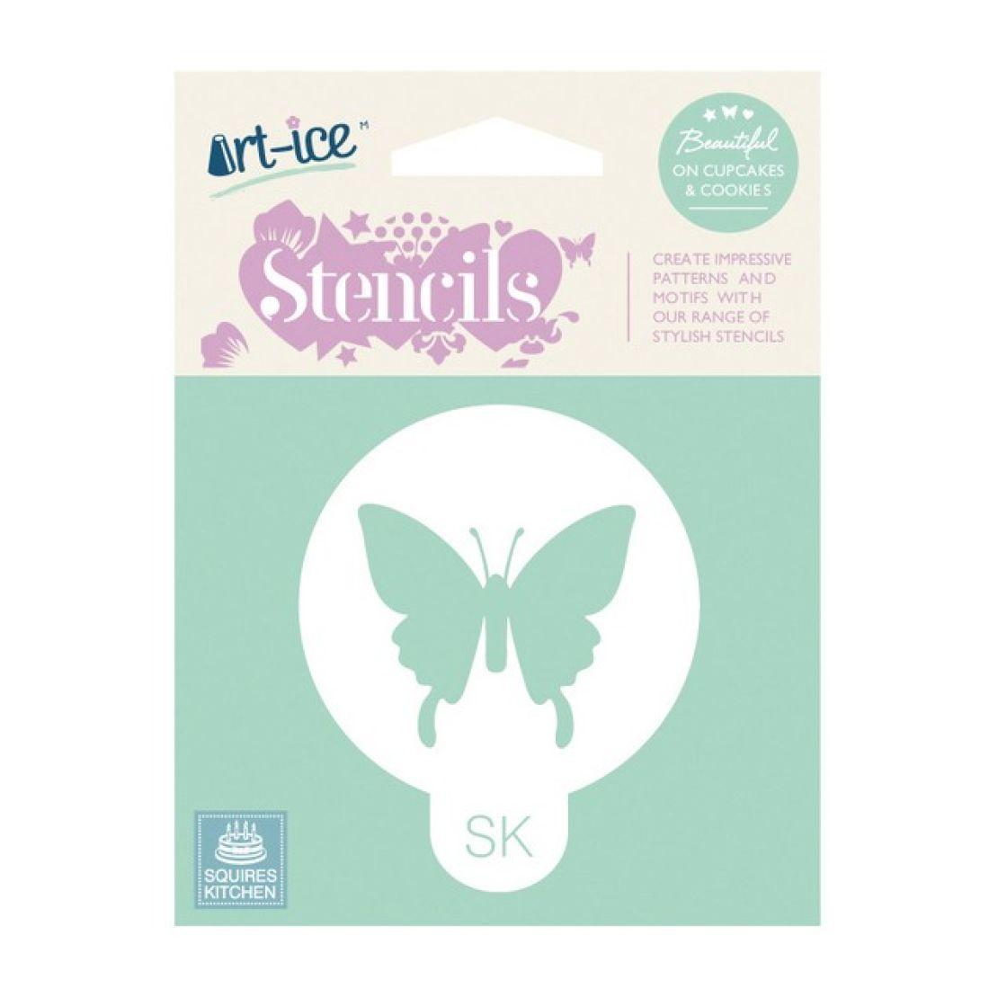 SK Art-ice Round Stencil Butterfly | Squires Kitchen Shop