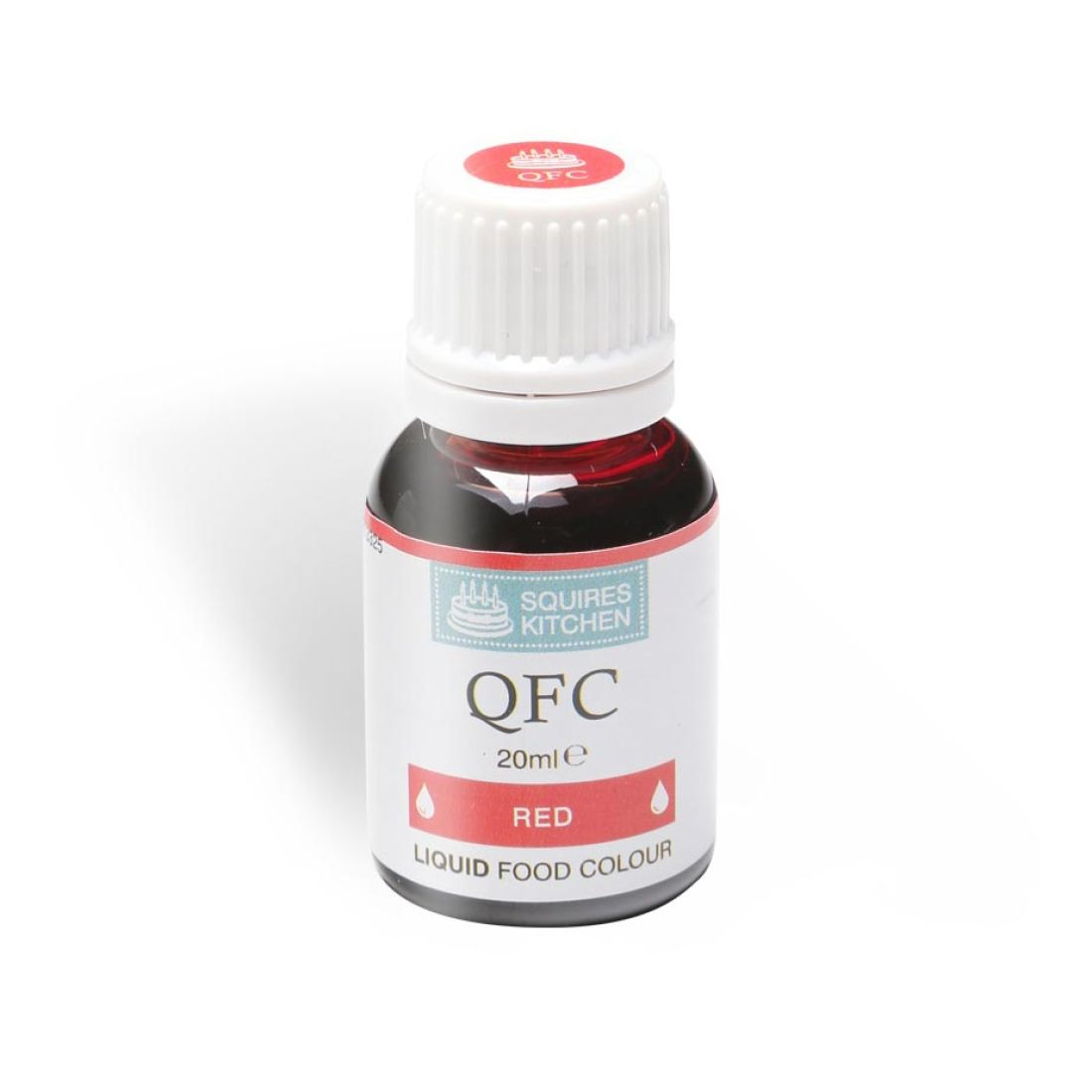 SK QFC Quality Food Colour Liquid Red 20ml | Squires Kitchen Shop