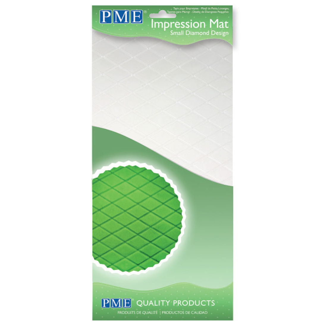 PME Small Diamond Impression Mat | Squires Kitchen Shop