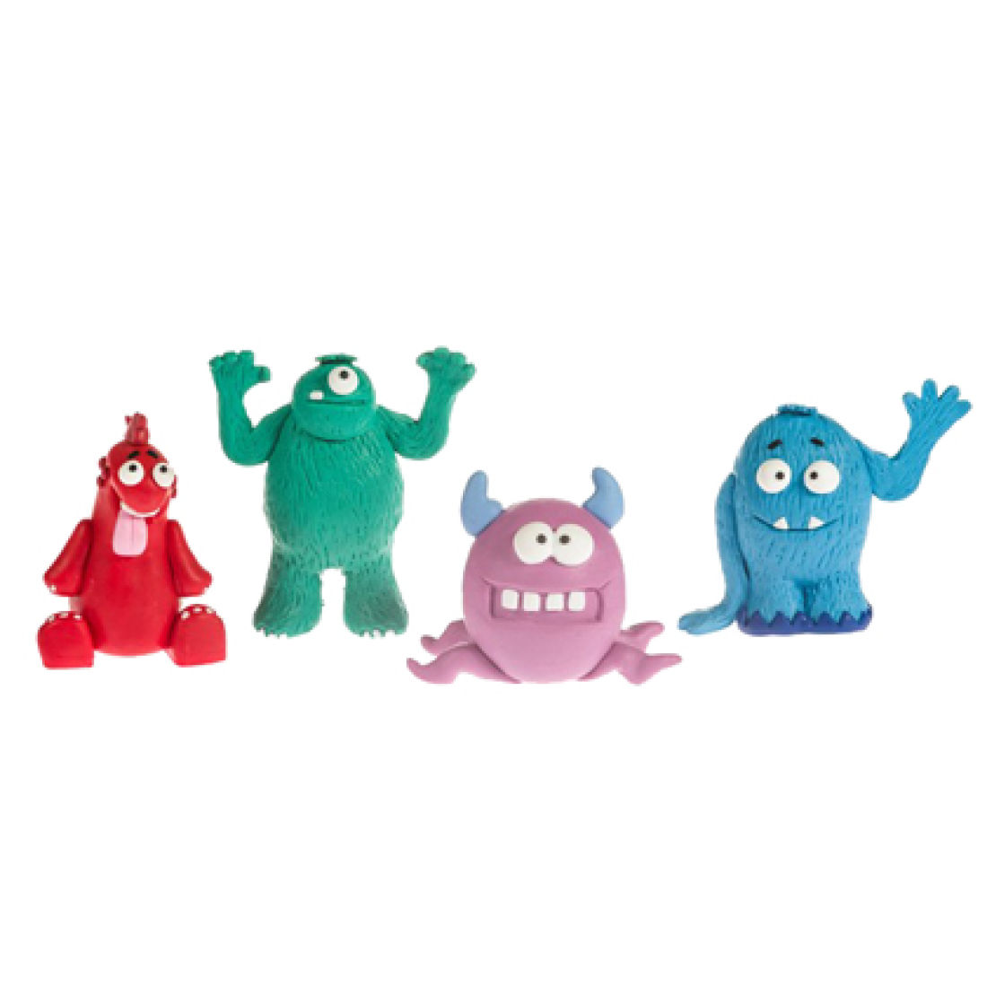Claydough Monster Cake Toppers Set of 4 | Squires Kitchen Shop