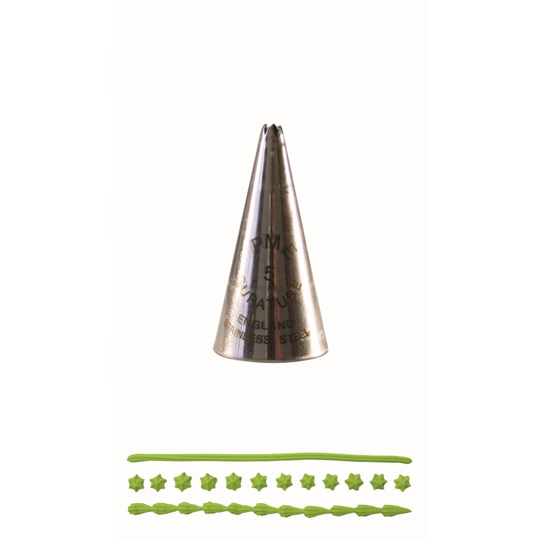 PME Star SupaTube Stainless Steel Icing Buttercream Piping Decorating Nozzle Tip