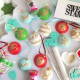 Sweet Stamp Cute Christmas Embossing Elements