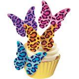 SK Designer Butterflies - Leopard Print