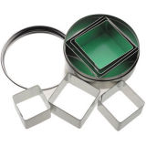 Kitchen Craft Metal Cookie Cutters Square Set of 6