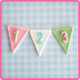 Katy Sue Number Bunting Mould