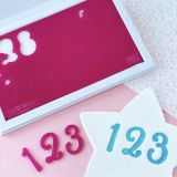Sweet Stamp Sweet Sticks Numbers Embossing Set