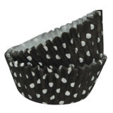 SK Cupcake Cases Dotty Black Pack of 36