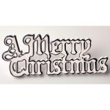 Silver Plastic Merry Christmas Motto