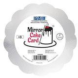 """PME Mirror Cake Card - Scallop Silver Pk/3 (152mm / 6"""")"""