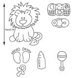 Patchwork Cutter & Embosser Baby Lion and Nursery Item
