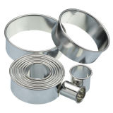 Kitchen Craft 11 Round Plain Pastry Cutters With Storage Tin