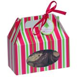Red & Green Stripe Treat Boxes With Ribbons & Gift Bags
