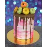 PME Gold Mirror Cake Card Round 12 Inch