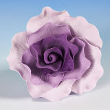 X Large Two Tone Lilac & Deep Lilac Vintage Wired Rose