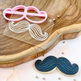 LissieLou Moustache with Lines Cutter & Embosser