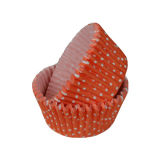 SK Cupcake Cases Polka Dot Orange Pack of 36