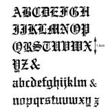 Patchwork Cutter & Embosser Old English Alphabet