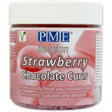 PME Chocolate Curls - Strawberry (85g / 3oz)