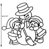 Patchwork Cutter & Embosser Snowman