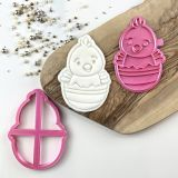 LissieLou Easter Chick Large Cookie Cutter & Stamp