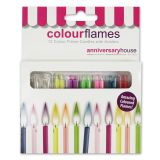 Colour Flames Candles Pack of 12