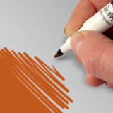 Rainbow Dust Double-Sided Edible Food Pen Orange
