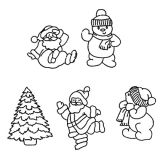 Patchwork Cutter & Embosser Santa and Snowman