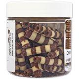 PME Chocolate Curls - Striped Mini Cigarellos (100g / 3.5oz)