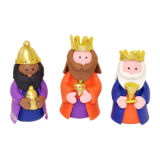 Claydough Three Kings Cake Topper