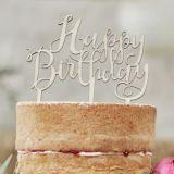 Happy Birthday Wooden Cake Topper