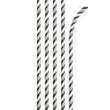 Striped Paper Straws with ECO-FLEX® Technology
