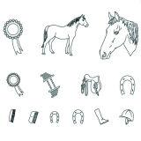 Patchwork Cutter & Embosser Horse Set