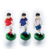 Plastic Cake Decoration - Male Footballer Blue