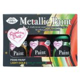 Rainbow Dust Metallic Food Paint - Christmas Collection 3 x 25g