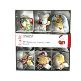 Mini Christmas Cookie Cutters - Set of 9