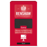 Renshaw Extra Ready to Roll Icing Black 1kg