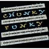FMM Cutters Chunky Funky Alphabet & Numbers Set