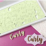 Sweet Stamp Curly Letters Embossing Set