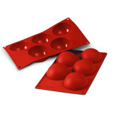 XX Large Half-Sphere Silicone Mould - Set of 5 (80mm)