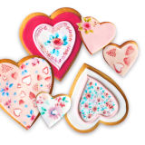 SK Edible Wafer Paper by Natasha Collins: Floral Hearts