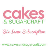 Cakes & Sugarcraft Magazine Subscription 6 Issues Starting with Next Issue (Aug/Sept 2017)
