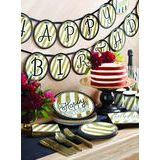 Paper Lunch Plates Black and Gold Sturdy Style