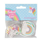 Unicorn & Rainbow Cupcake Picks